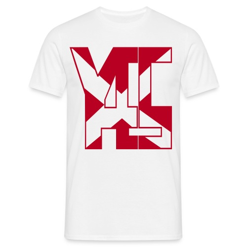 YES 45 Adult Mens T-shirt with Red logo - Men's T-Shirt