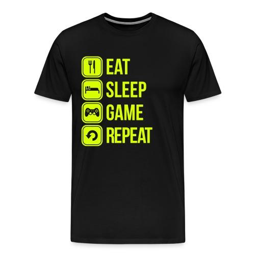 Camiseta HOMBRE | EAT, SLEEP, GAME, REPEAT - Camiseta premium hombre