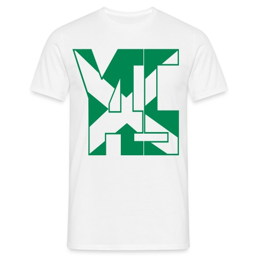 YES 45 Adult Mens T-shirt  Green logo - Men's T-Shirt