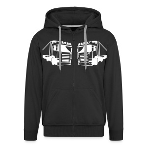 18 Wheels Fan Site Sweatshirt - Premium-Luvjacka herr