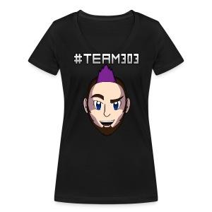 #Team303 Womens T-Shirt - Women's Organic V-Neck T-Shirt by Stanley & Stella