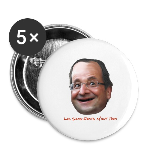 Les sans-dents - Lot de 5 moyens badges (32 mm)