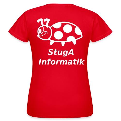 StugA Informatik T-Shirt Girlie mit Name - Frauen T-Shirt