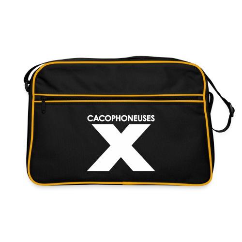 Carry the X (black & white) - Retro Bag