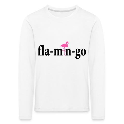 Flamingo Longsleeve Kids Black Text - Kinderen Premium shirt met lange mouwen