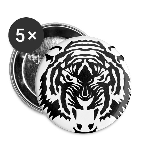 Tiger Button - Stor pin 56 mm