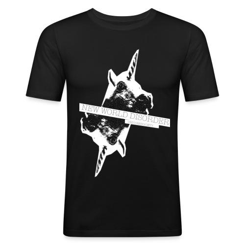 NEW WORLD DISORDER - Männer Slim Fit T-Shirt