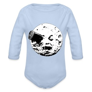 A Trip to the Moon - Organic Longsleeve Baby Bodysuit