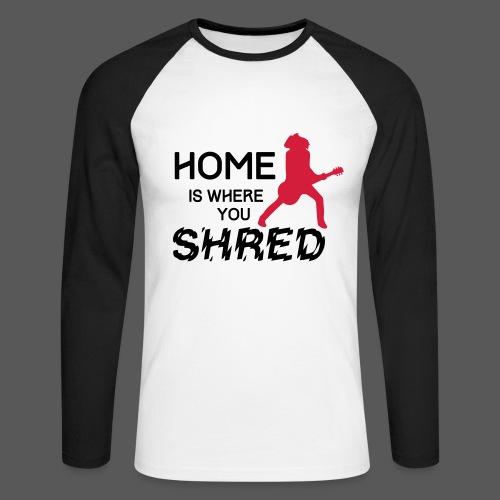Home is where you shred – Les Paul - Männer Baseballshirt langarm