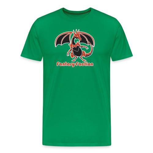 Fantasy-Faction Large Dragon - Men's Green - Men's Premium T-Shirt