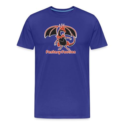 Fantasy-Faction Large Dragon - Men's Blue - Men's Premium T-Shirt