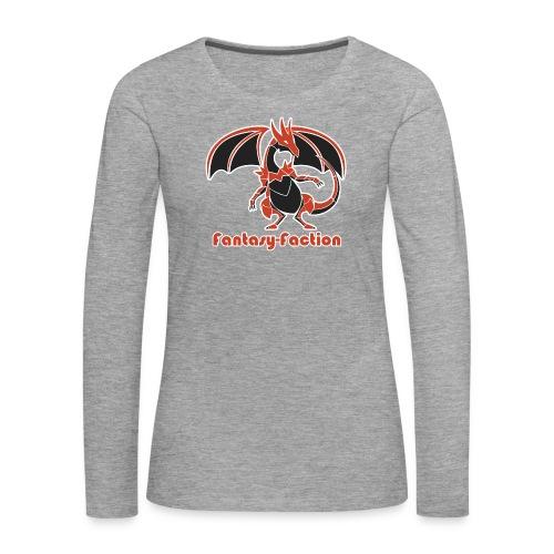 Fantasy-Faction Large Dragon - Women's Long-Sleeve Grey - Women's Premium Longsleeve Shirt