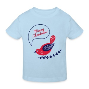 Merry Christmas Vogel - Kinder Bio-T-Shirt