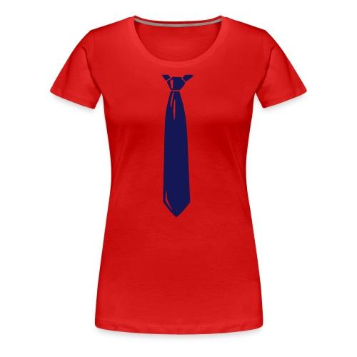 Tee shirt Femme cravatte - T-shirt Premium Femme