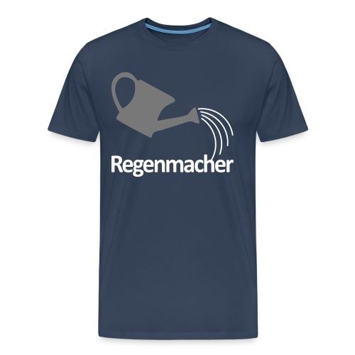 Regenmacher - Die Gießkanne   Gartenmotiv - Männer Premium T-Shirt