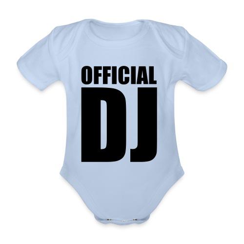 2nd Official DJ Rompertje - Baby bio-rompertje met korte mouwen