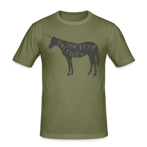 THE UNICORN - Männer Slim Fit T-Shirt
