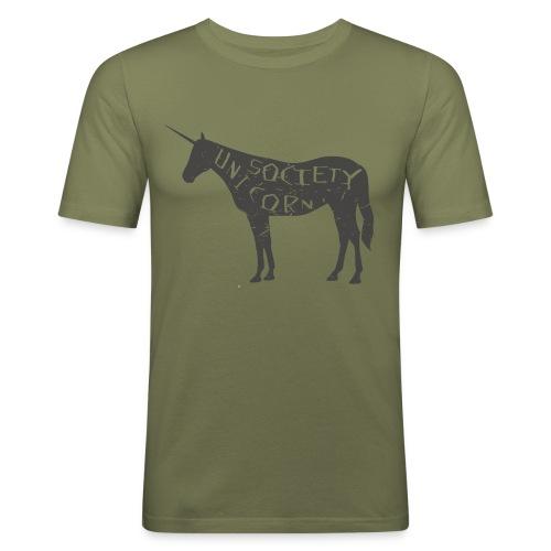 THE UNICORN - Männer Slim Fit T-Shirt