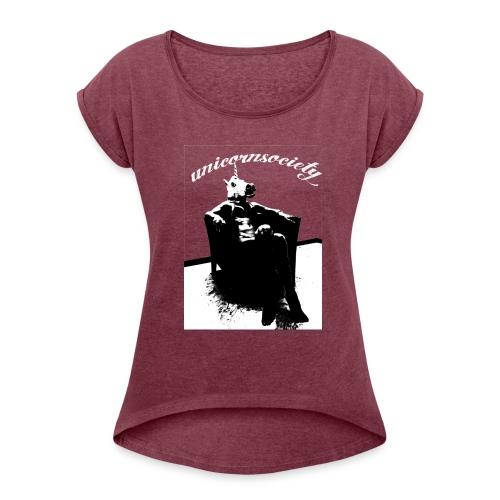 CHAIRWOMEN - Frauen T-Shirt mit gerollten Ärmeln