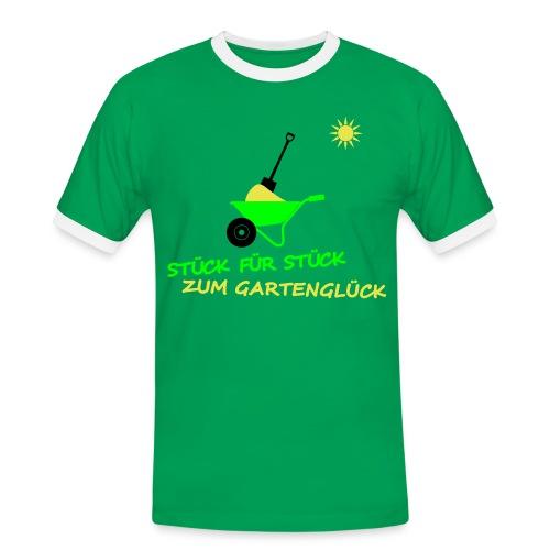Gartenglück... - Männer Kontrast-T-Shirt