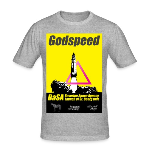 MIC-HELL #GODSPEED - Männer Slim Fit T-Shirt