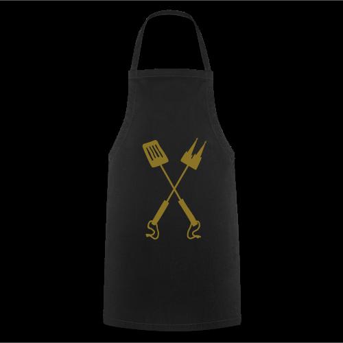 Kölner Grillbesteck Grillschürze (Schwarz/Gold) - Kochschürze