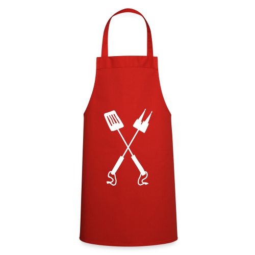 Kölner Grillbesteck Grillschürze (Rot/Weiß) - Kochschürze