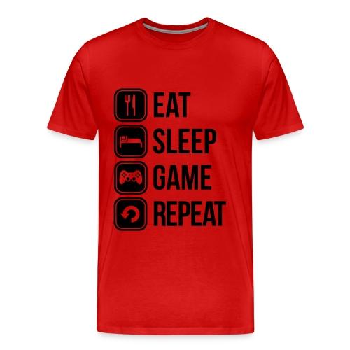 EAT, SLEEP, GAME, REPEAT - Men's Premium T-Shirt
