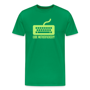 Code Motherfucker - Green Code - Men's Premium T-Shirt