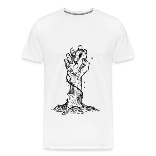 t-shirt motif main zombie  - T-shirt Premium Homme