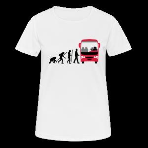 T-Shirt Evolution Busfahrer - Frauen T-Shirt atmungsaktiv