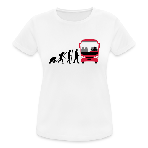 T-Shirt Evolution Busfahrer - Frauen T-Shirt atmungsaktiv