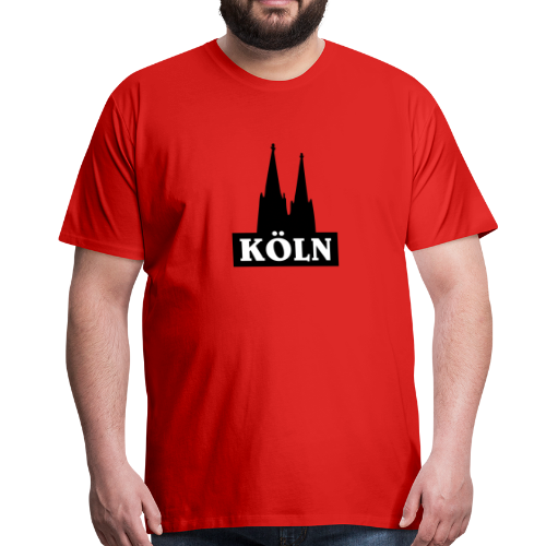 Köln Logo mit Kölner Dom (S/W) - Männer Premium T-Shirt