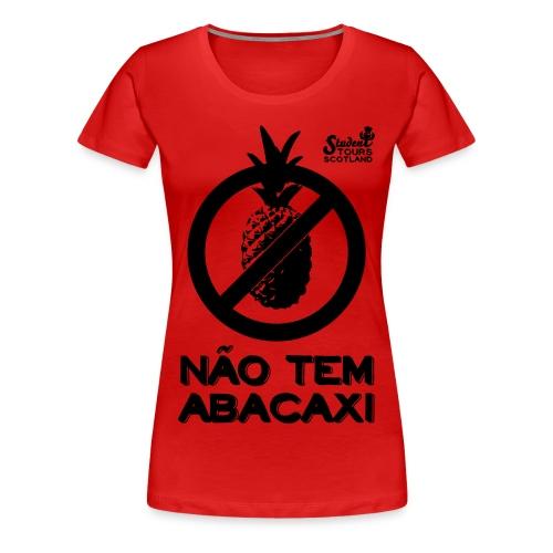 Brazil (Abacaxi) Black Print - Women's Premium T-Shirt