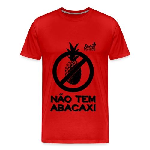 Brazil (Abacaxi) Black Print - Men's Premium T-Shirt