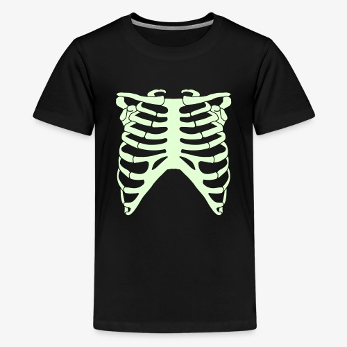 Halloween scary skeleton  - Teenage Premium T-Shirt