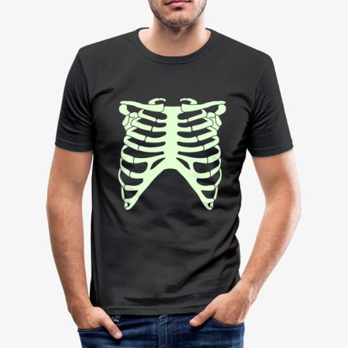 Halloween scary skeleton  - Men's Slim Fit T-Shirt