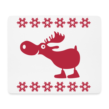 elch rentier hirsch weihnachten norweger rudolf mousepad. Black Bedroom Furniture Sets. Home Design Ideas