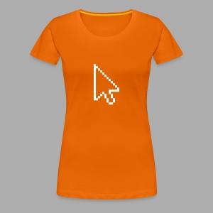 Click Me Shirt - Flexdruck weiß - Frauen Premium T-Shirt