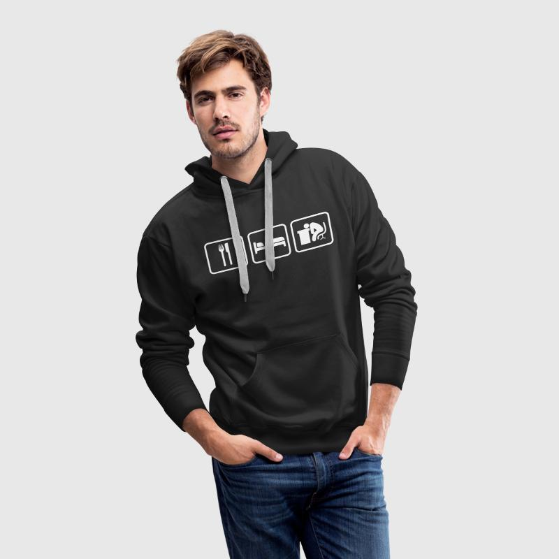 Eat Sleep Work, Essen Schlafen Arbeiten Sweat-shirts - Sweat-shirt à capuche Premium pour hommes
