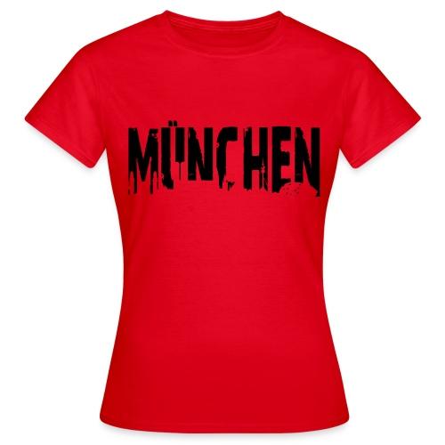 Frauen T-Shirt - München in Rot - Frauen T-Shirt