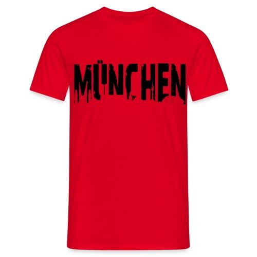 T-Shirt - München in Rot - Männer T-Shirt