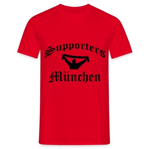 T-Shirt - Supporters München in Rot - Männer T-Shirt