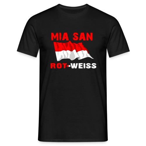T-Shirt - Mia san Rot-Weiss in Schwarz - Männer T-Shirt