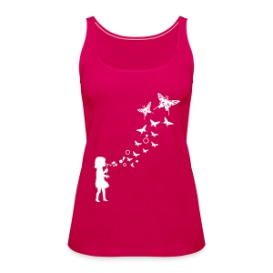 Little Girl with Butterfly  - Frauen Premium Tank Top