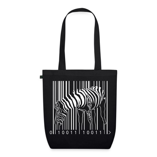 Organic Tote Bag Black Zebra Barcode - EarthPositive Tote Bag