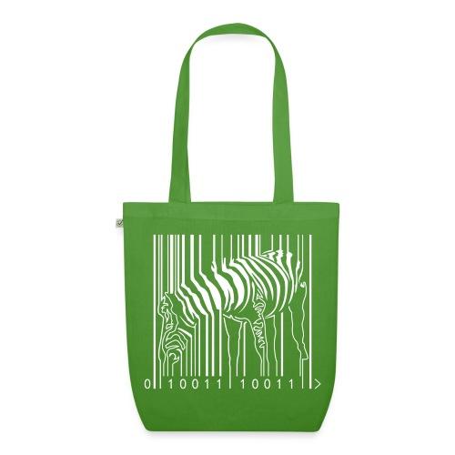 Organic Tote Bag Green Zebra Barcode - EarthPositive Tote Bag
