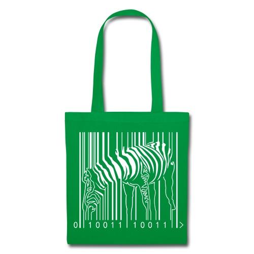 Tote Bag Green Zebra Barcode - Tote Bag