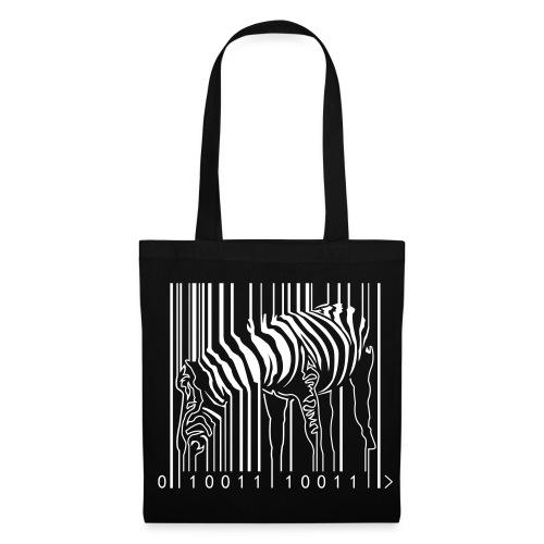 Tote Bag Black Zebra Barcode - Tote Bag