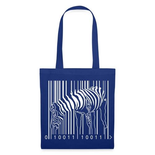 Tote Bag Blue Zebra Barcode - Tote Bag